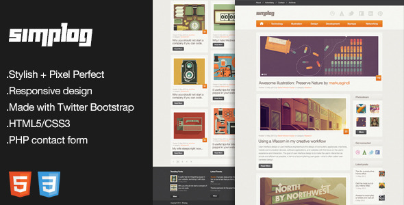 simplog responsive html5 blog template html others