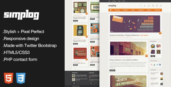 Simplog - Responsive HTML5 Blog Template - HTML & Others