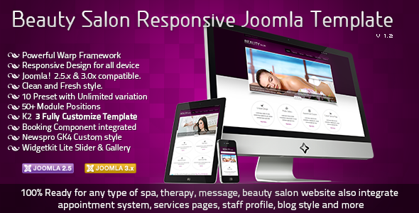 beauty salon responsive joomla template joomla themeforest. Black Bedroom Furniture Sets. Home Design Ideas