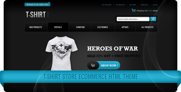 T-Shirt Store eCommerce HTML Theme - HTML & Others :: Themeforest