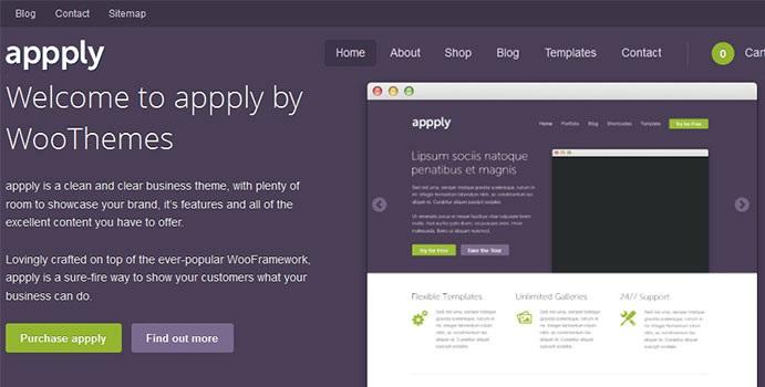Appply WooThemes Wordpress Theme - A Service Showcase