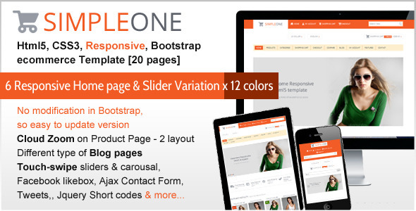 SIMPLEONE – Html5 Responsive ecommerce Template - HTML & Others ...