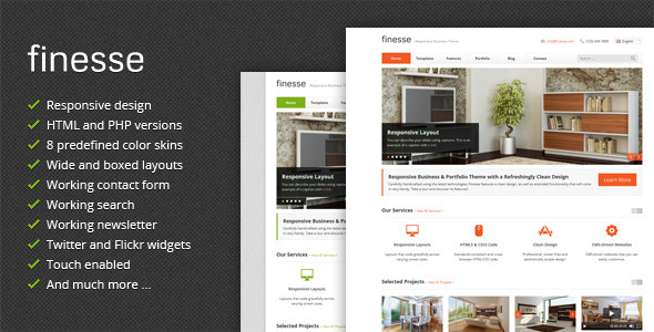 Finesse responsive business themeforest html template html finesse responsive business themeforest html template wajeb Image collections