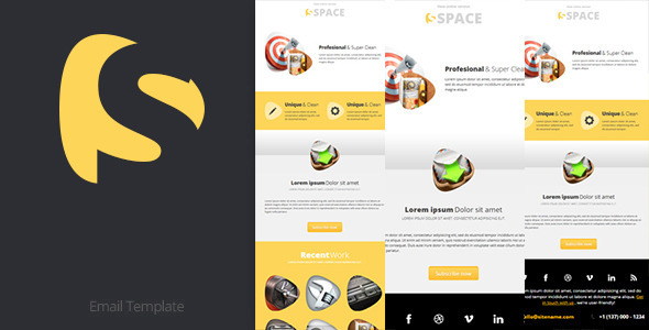 space email template themeforest html others themeforest. Black Bedroom Furniture Sets. Home Design Ideas