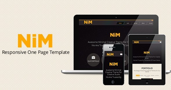NiM – Responsive One Page Creative Template - HTML & Others ...
