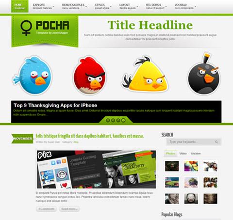 Shaper Pocha Multipurpose Joomla 30 Template Retail Joomla