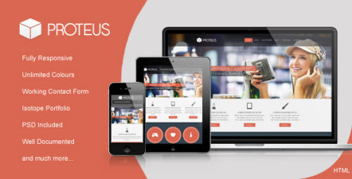 Proteus Site Template Themeforest Html Others Themeforest