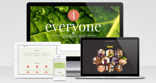 4everyone - one page retina html template - html & others, Presentation templates