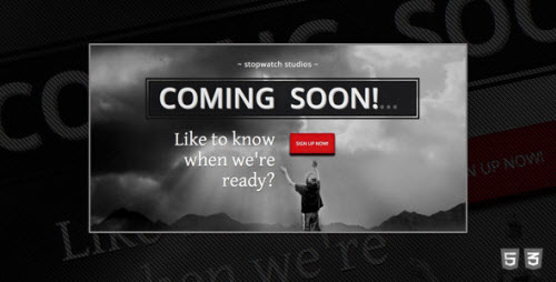 stopwatch coming soon html5 template html others themeforest. Black Bedroom Furniture Sets. Home Design Ideas