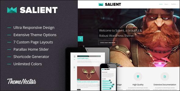 Salient - Responsive Portfolio & Blog Theme v1.4.2 - Wordpress ...