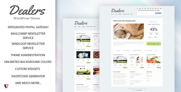Daily deals aggregator wordpress theme