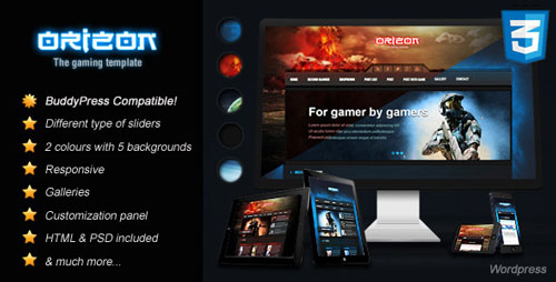 Orizon V3 0 Themeforest The Gaming Template Wp Version