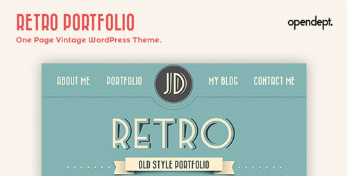 retro portfolio v3 3 one page vintage themeforest wp theme wordpress themeforest. Black Bedroom Furniture Sets. Home Design Ideas