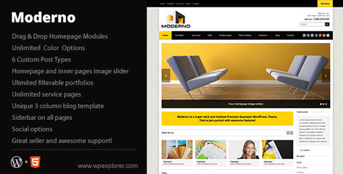 Moderno Themeforest Corporate WordPress Theme - Wordpress :: Themeforest