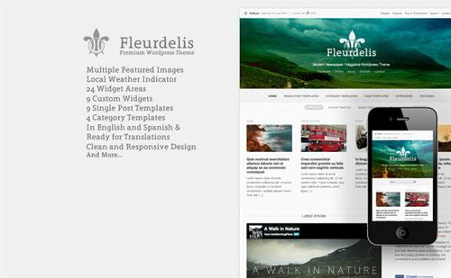Fleurdelis - Themeforest Modern Magazine Theme - Wordpress ...