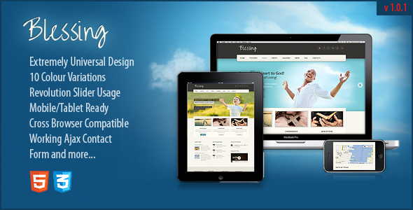 Blessing Responsive ThemeForest HTML5/CSS3 Template - HTML & Others ...