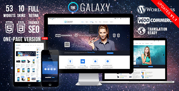 The Galaxy WP - Themeforest Responsive Multi-Purpose Theme ...