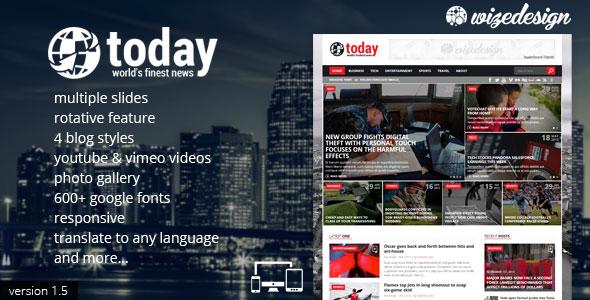 Today - Themeforest News & Magazine WordPress Theme - Wordpress ...