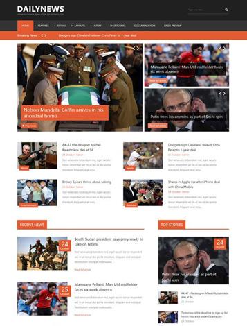 Free news joomla templates for online magazine   gavickpro.