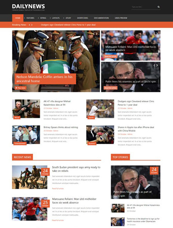 Yj dailynews joomla 2 5 3 2 news template joomla for News site template free download